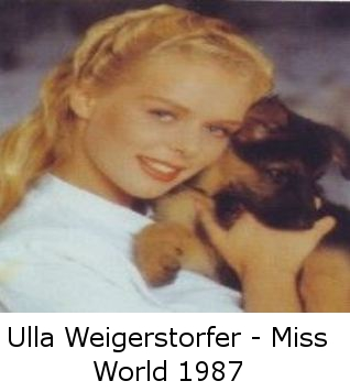 Ulla Weigerstorfer - Miss World 1987 t